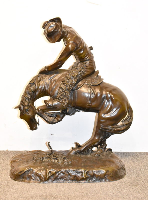 130. After Frederic Remington. Bronze, The Rattlesnake |  $531