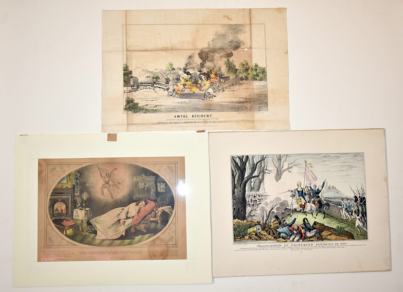 140. Three Unframed 19th C. Lithographs |  $215.25