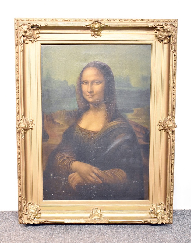 155. Oil/Canvas Copy of the Mona Lisa |  $369