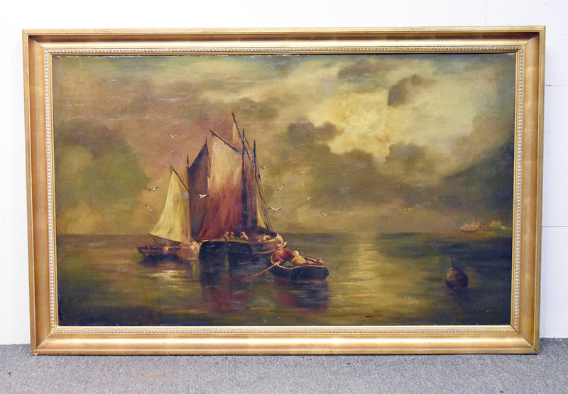162. Unsigned. Oil/Canvas, Seascape |  $399.75