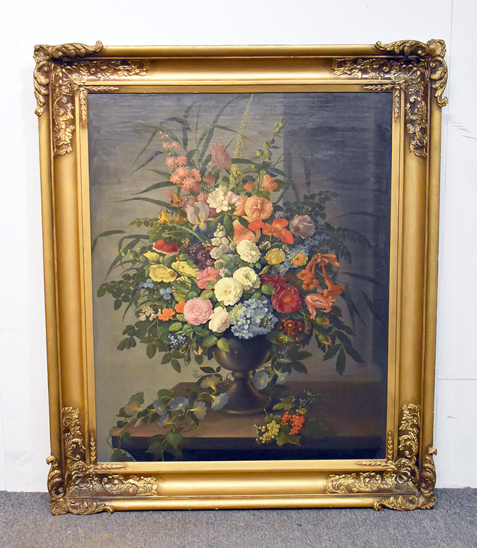 163. Unsigned. Oil/Canvas, Floral Still Life |  $413