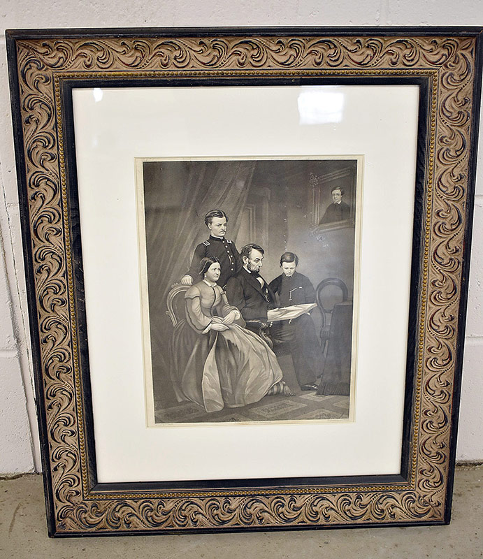 164. Walker. 19th C. Engraving, A. Lincoln & Family |  $73.80