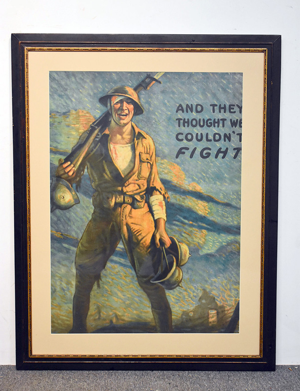 "169. Clyde Forsythe WWI Poster, ""And They Thought…\"" 