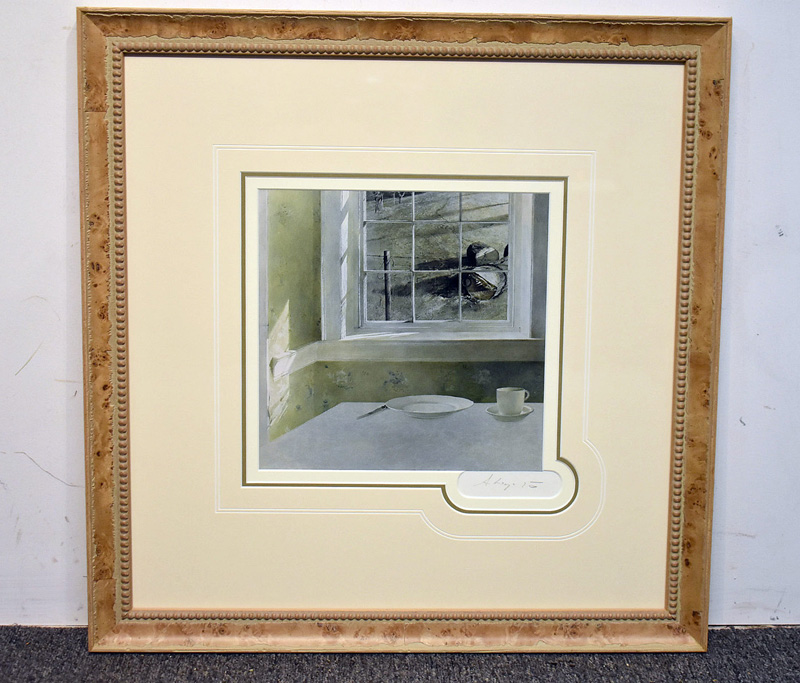 "172. Andrew Wyeth Signed Print, ""Groundhog Day\"" 
