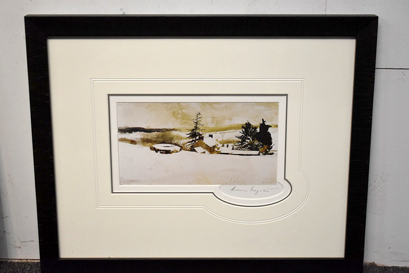 "175. Andrew Wyeth Signed Print, ""Cistern\"" 