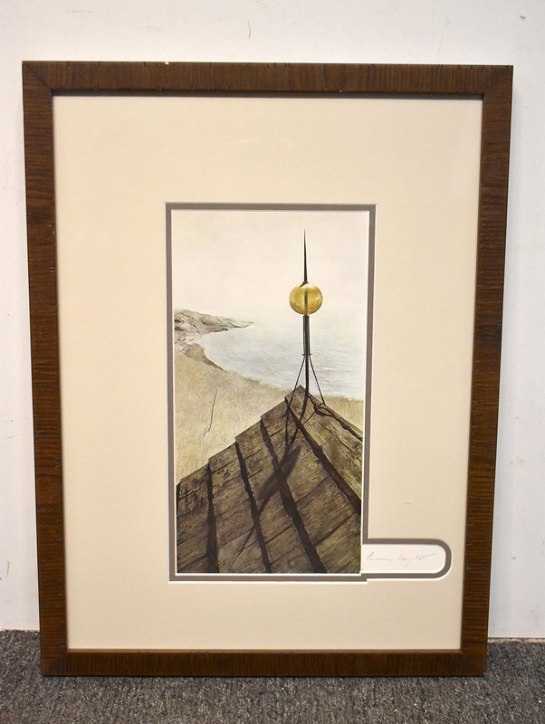 "177. Andrew Wyeth Signed  Print, ""Northern Point\"" 