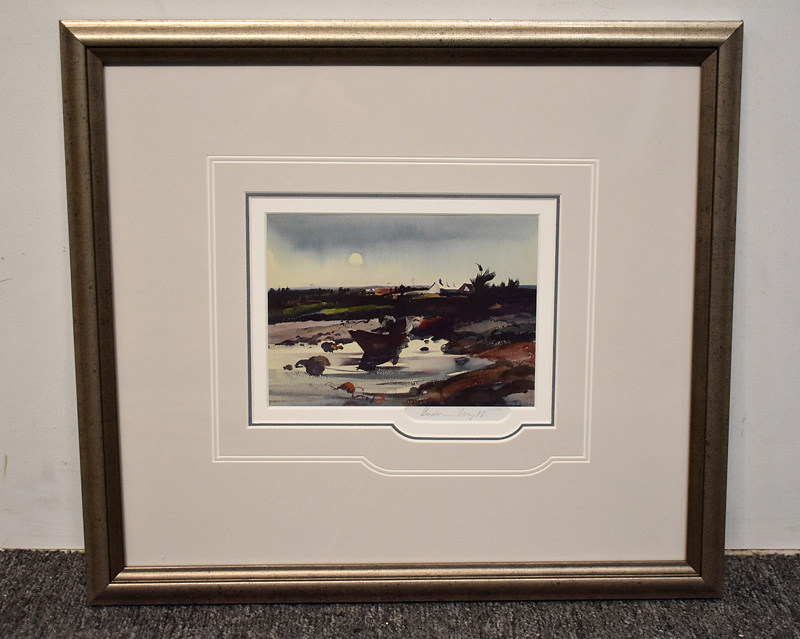 178. Signed Andrew Wyeth Print, Landscape with Boat |  $265.50