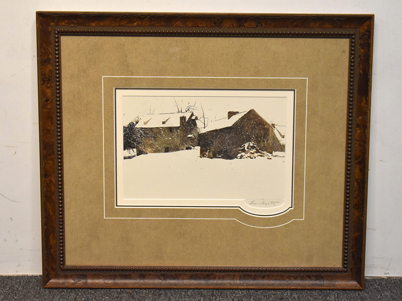 "180. Signed Andrew Wyeth Print, ""Brinton\'s Mill\"" 