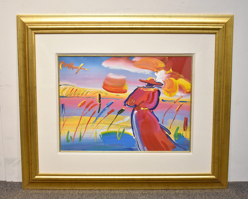 "190. Peter Max. Acrylic/Litho. ""Walking in the Reeds\"" 