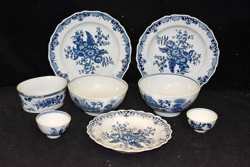 203. Eight Pieces of Delft Pottery |  $649