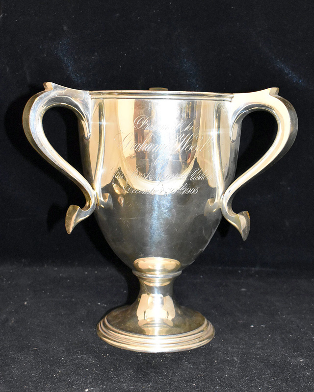 206A. Sterling Silver Three-handled Loving Cup |  $767
