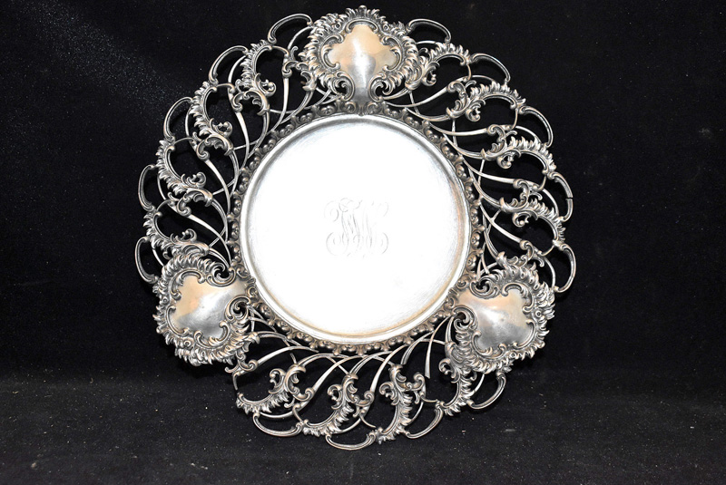 206G. Sterling Silver Reticulated Footed Dish |  $442.50