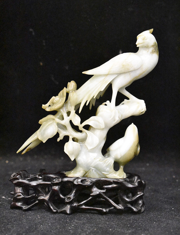217. Chinese Carved Hardstone Sculpture of a Bird |  $147.50