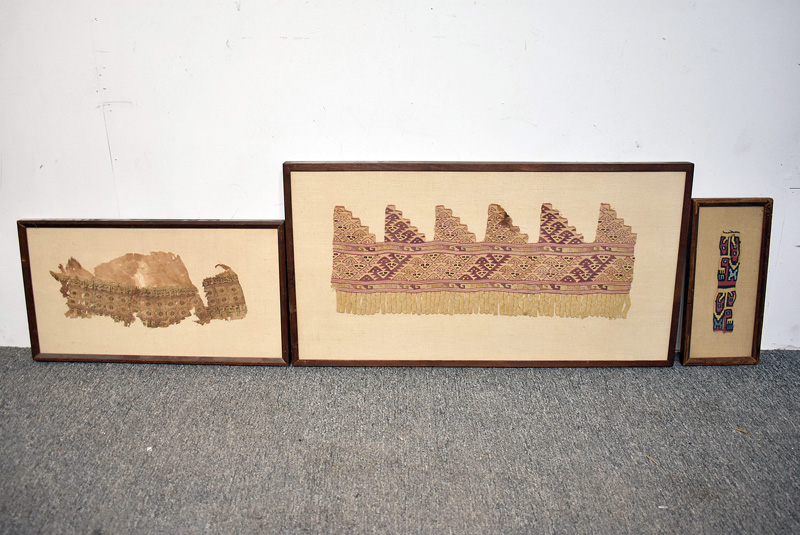 220C. Three Framed Textile Fragments |  $553.50