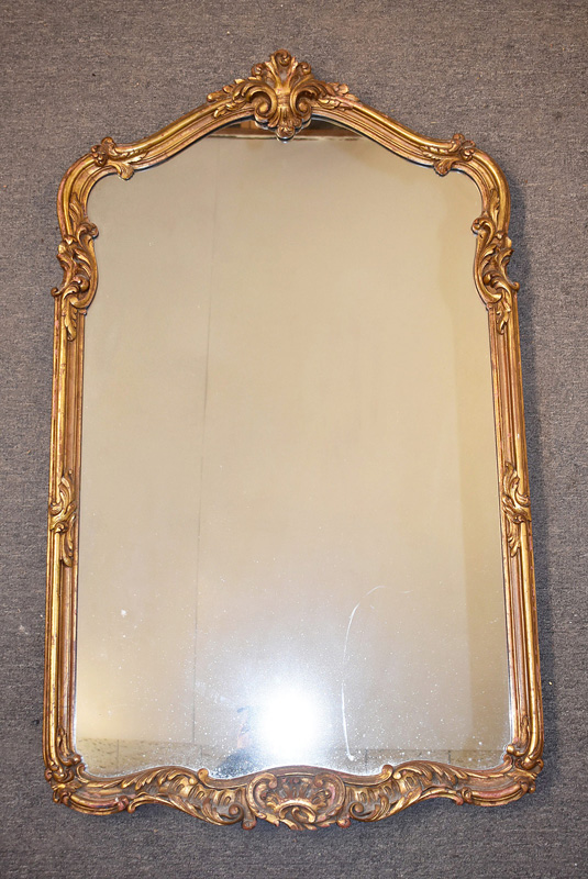 229. Decorator Gilt Wood Mirror with Shaped Frame |  $106.20