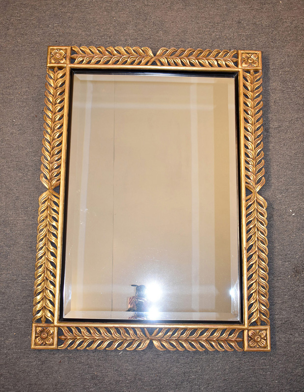 230. Decorator Gilt Wood Mirror with Floral Corners |  $399.75