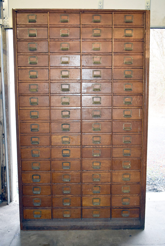 253. Victorian Oak Letter File Cabinet with 64 Drawers |  $369