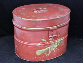 4. Toleware Red-Painted & Decorated Box |  $23.60