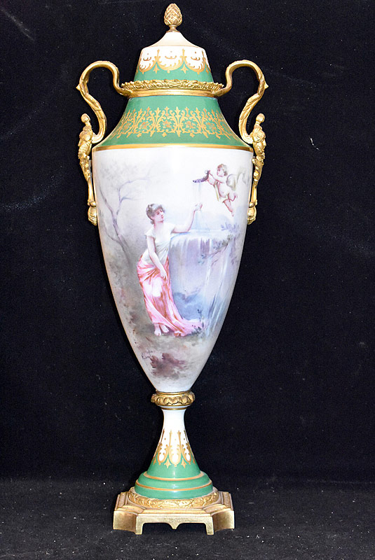 7. Large Sevres (France) Porcelain Covered Urn |  $492