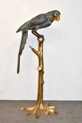 8. Patinated Bronze Sculpture of a Parrot on Perch |  $492
