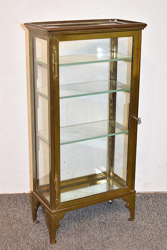 9. Miniature Bronze & Glass Curio Cabinet |  $442.50