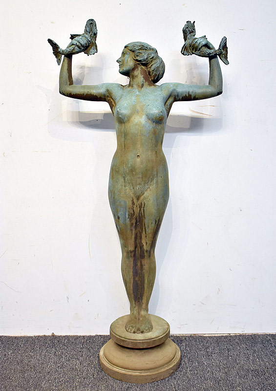 10. Figural Bronze Female-form Fountain |  $4,248
