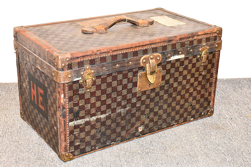 12. Louis Vuitton Small Steamer Trunk #128217 |  $4,248