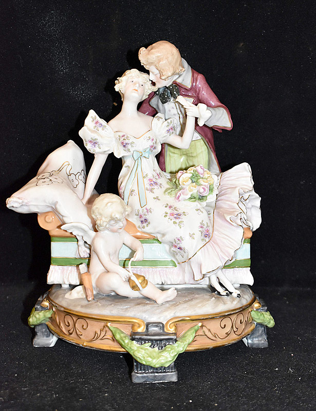 15. Royal Dux Bohemia Porcelain Figural Group |  $147.50