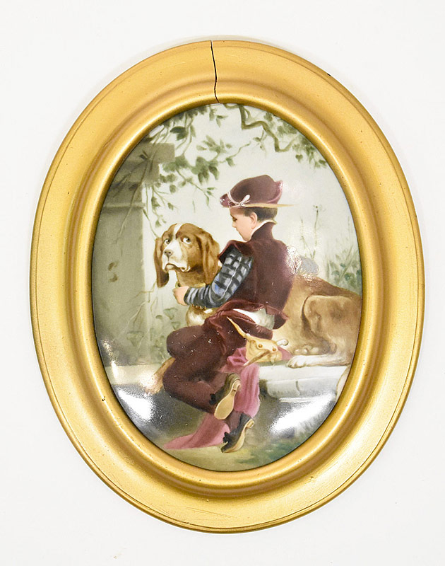 28. Painting on Porcelain: Boy with Dog |  $118