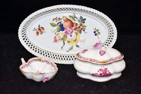 35. Three Pieces of Herend Porcelain |  $123