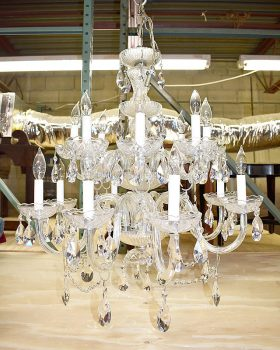 47B. Two-Tiered Cut Crystal Chandelier |  $147.50