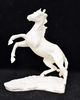 48. Boehm Bisque Figure, Horse Rearing |  $276.75