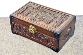 60. Chinese Carved Small Camphor Trunk |  $82.60