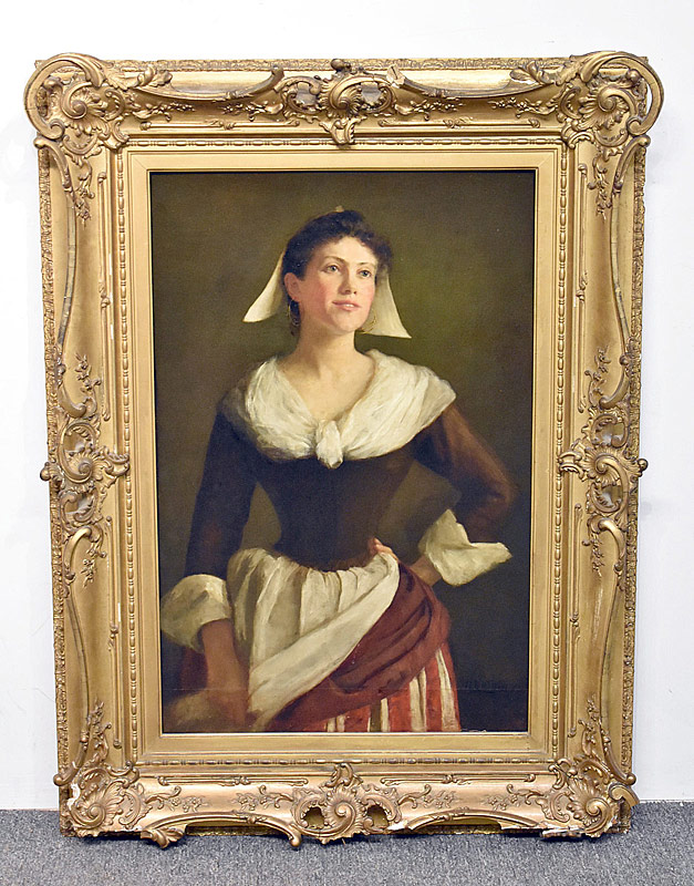 62. H.B. Kellogg. Oil/Canvas, Portrait of Woman |  $265.50