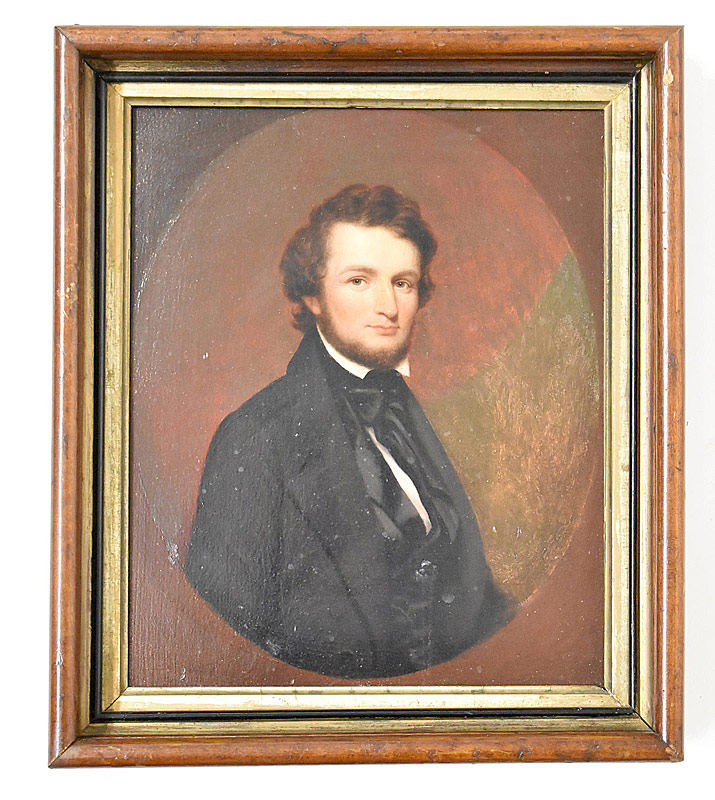 64. Oil/Panel, Portrait of William Ezra Worthen |  $118