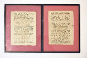 66. Two 18th C. Theatre Royal Playbill Broadsides |  $1,770