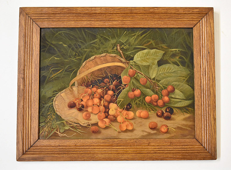 72. Virginia Granberry. Oil/Panel, Basket of Cherries |  $23.60