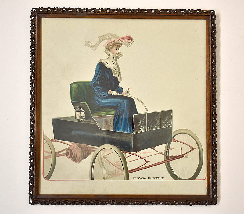 73. F. Earl Christy. Illust. Print, Woman Driving Car |  $23.60