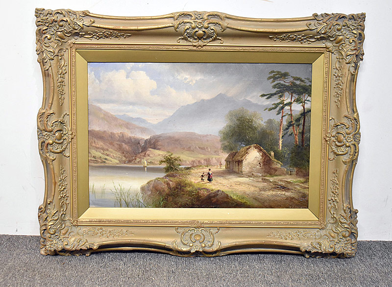 78. Henry Thomas Dawson. Oil/Canvas, Landscape |  $295