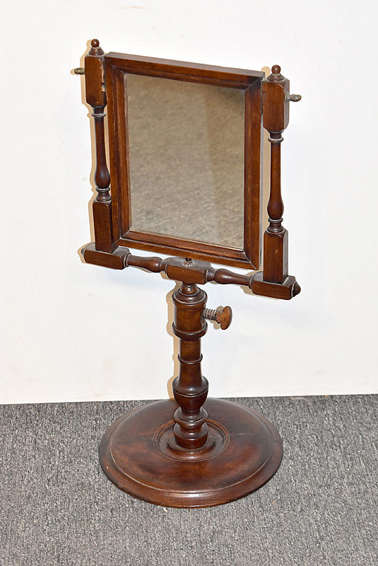 80. Mahogany Shaving Mirror, 19th C/early 20th C. |  $61.50