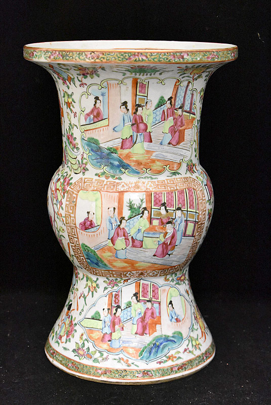 82. Chinese Export Porcelain Rose Medallion Gu Vase |  $472