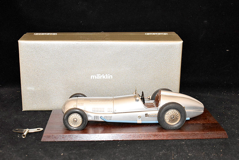 92. Boxed Marklin Tin Wind-up Mercedes Race Car |  $123
