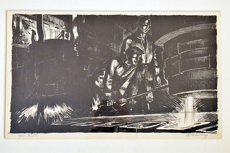 101. Harry Sternberg. Lithograph, Open Hearth |  $276.75