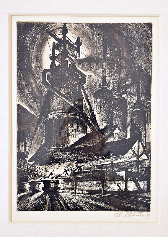 102. Harry Sternberg. Etching/Aquatint, Blast Furnace |  $184.50
