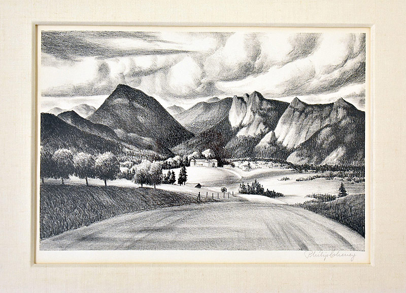 103. Philip Cheney. Lithograph, Landscape |  $61.50