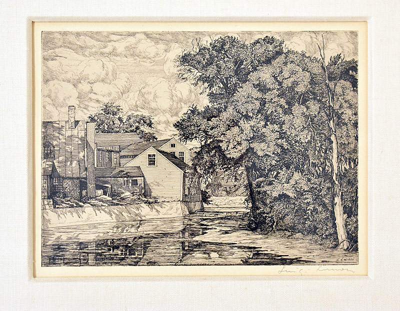 104. Luigi Lucioni. Etching, The Mill |  $369
