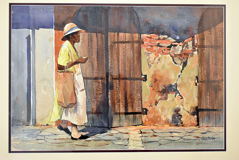 106. Larry Gluck. Watercolor/Paper, Street Scene |  $246