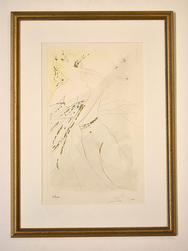 107. Salvador Dali. Aquatint Etching, Abstract Woman |  $265.50