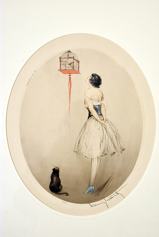 108. Louis Icart. Etching, La Cage Rouge, 1928 |  $338.25