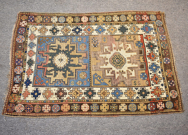 111. Caucasian Area Carpet, 4ft 7in x 3ft |  $184.50